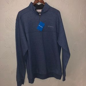 Men's NWT Columbia Blue Pullover Zip Up